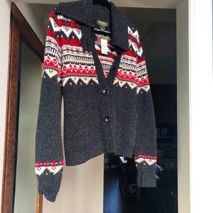 Women's Eddie Bauer Nordic sweater size large.